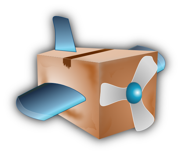 Flying box clip art. Engine clipart airplane