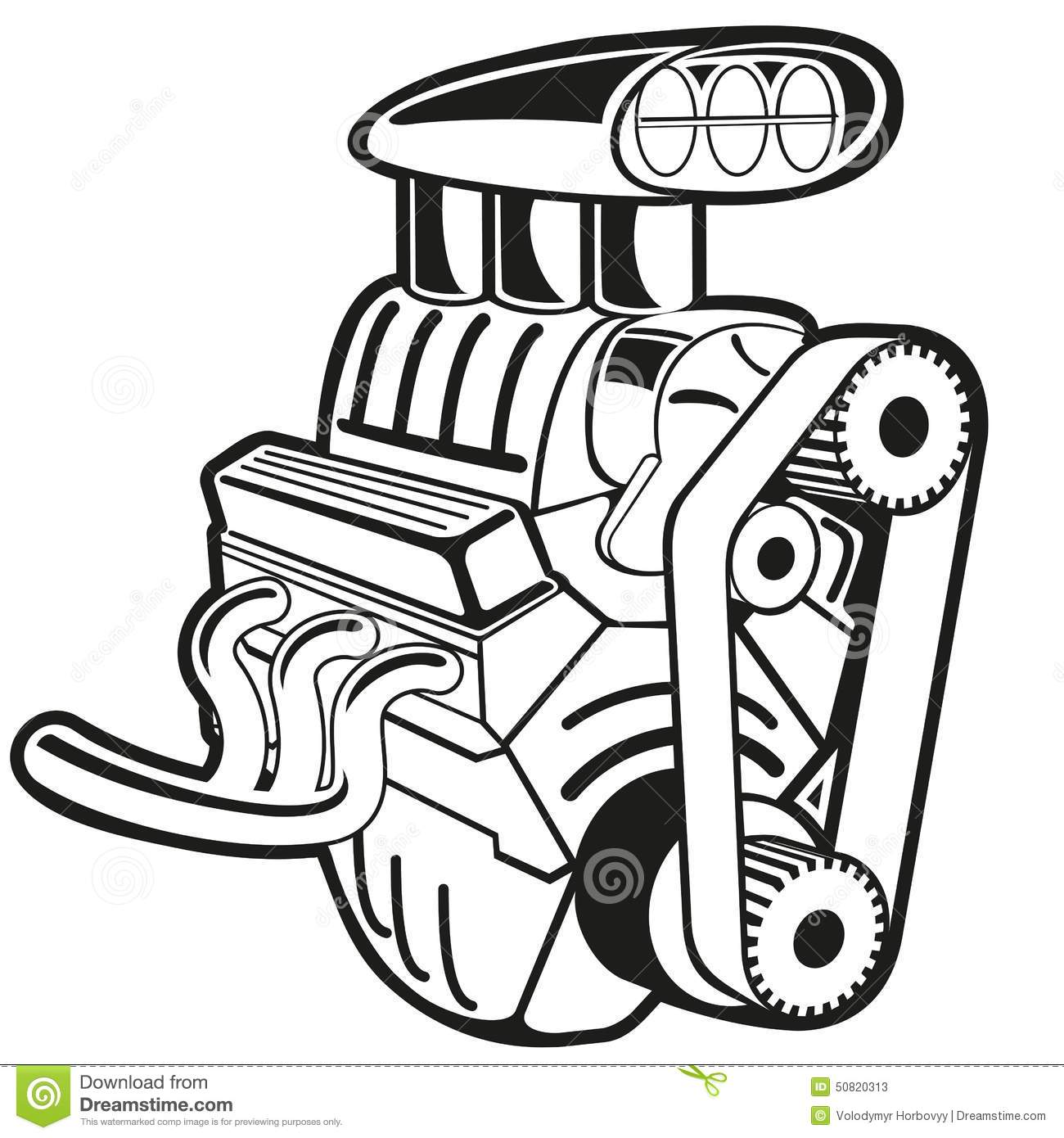 Car drawing at paintingvalley. Engine clipart automobile engine