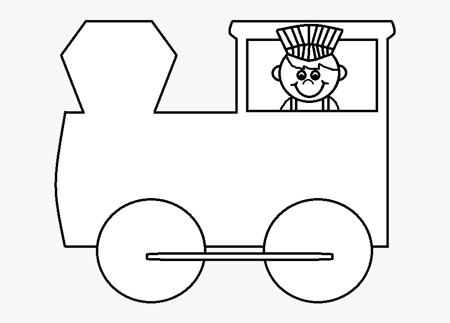 Train cartoon transparent . Engine clipart black and white