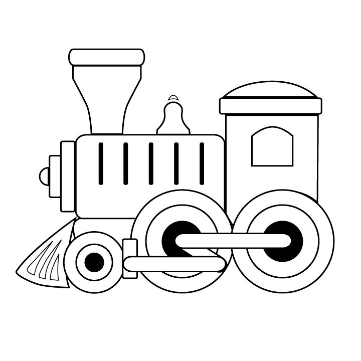 Engine clipart black and white. Free train download