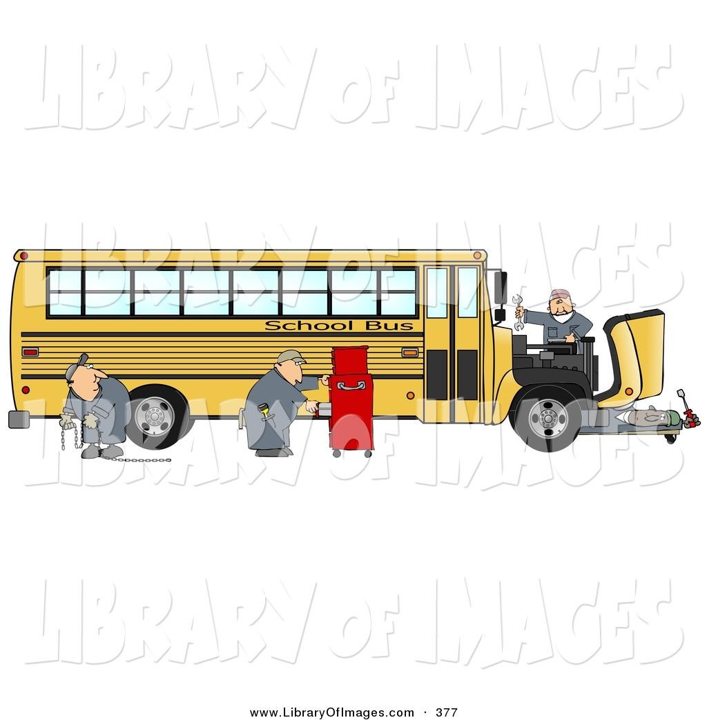 Clip art of a. Engine clipart bus mechanic