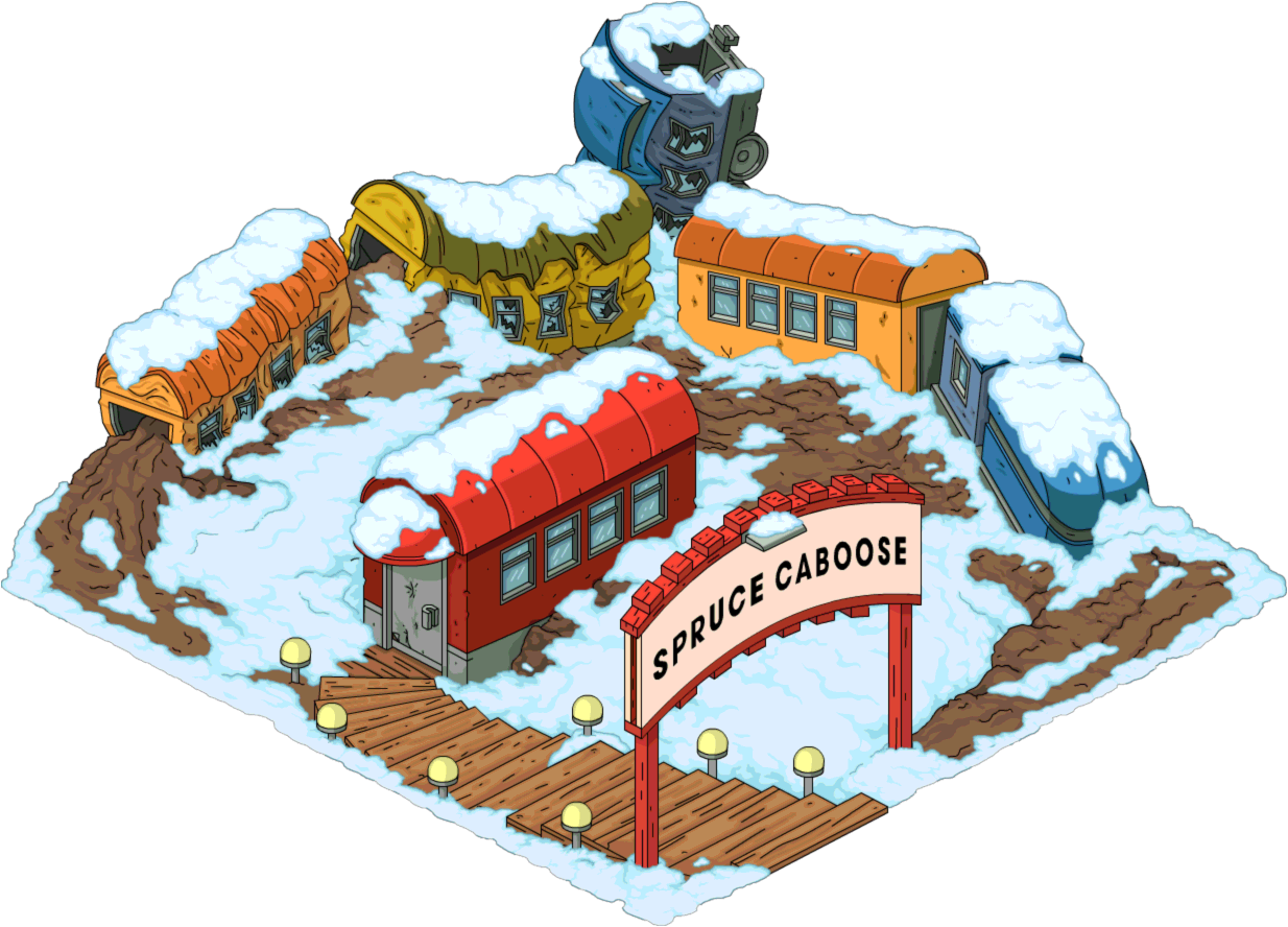 Engine clipart caboose. Spruce the simpsons tapped