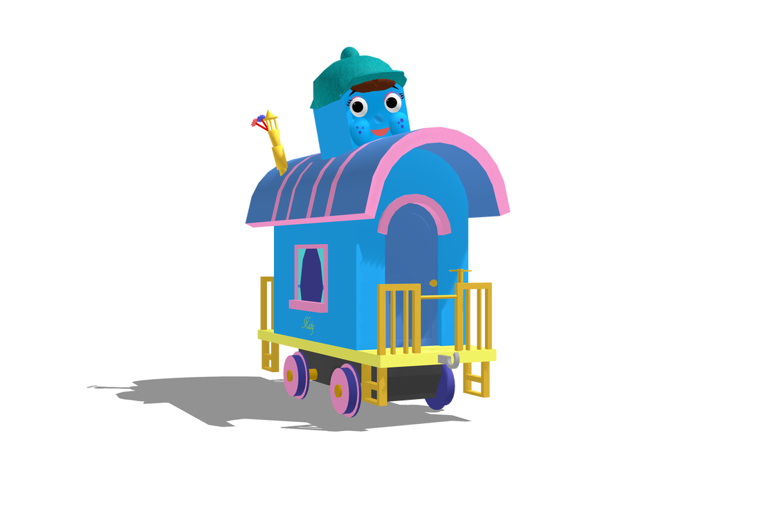 Engine clipart caboose. Katy the railways of