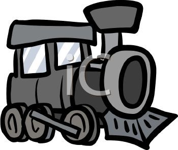 Train black and white. Engine clipart cartoon