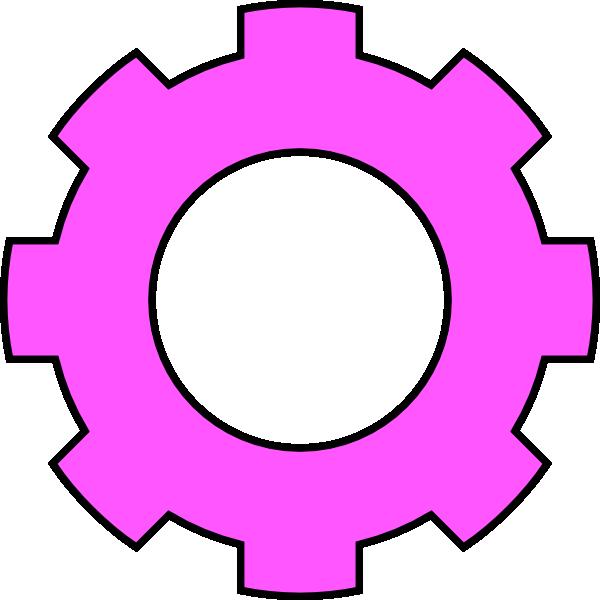 Gear clipart brain. Pink clip art at