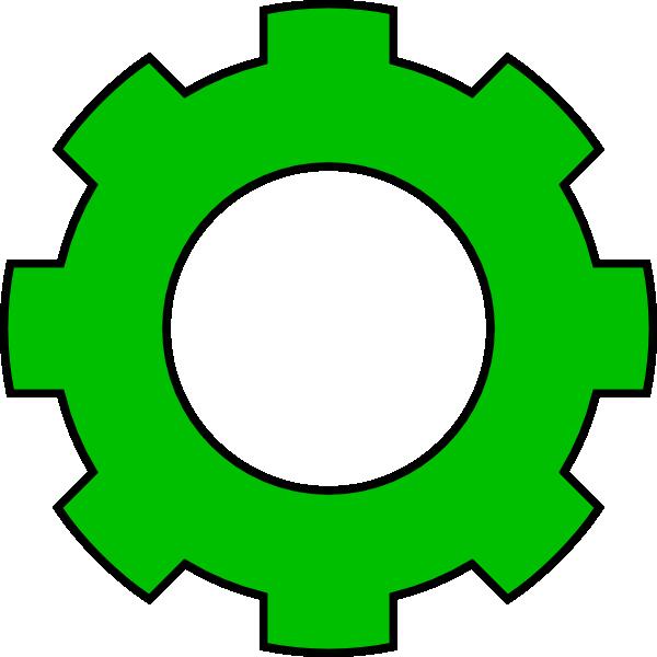 Green clip art at. Gear clipart illustrator