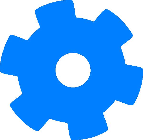 Gear clipart cogwheel. Blue cog clip art