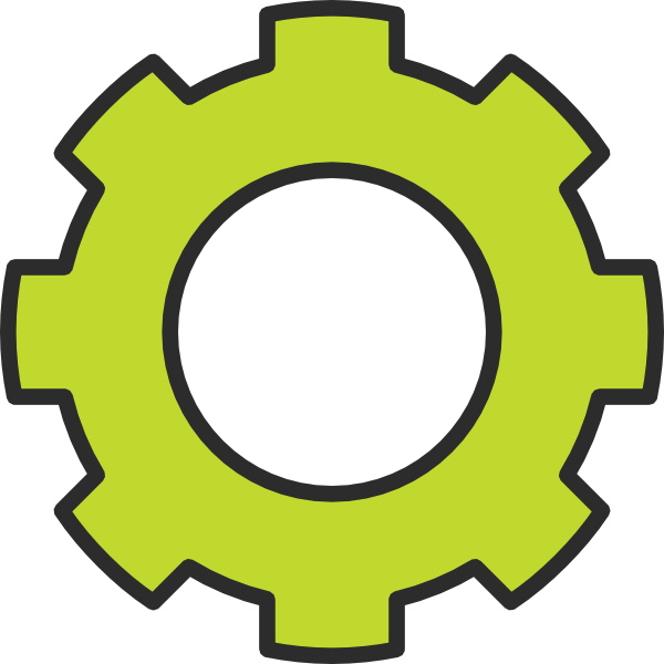 Gears clipart single gear. Green cog clip art