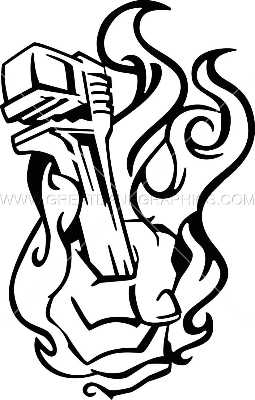 Pipe drawing at getdrawings. White clipart wrench