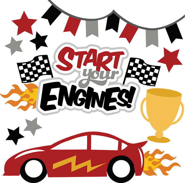 Start your engines svg. Race clipart started