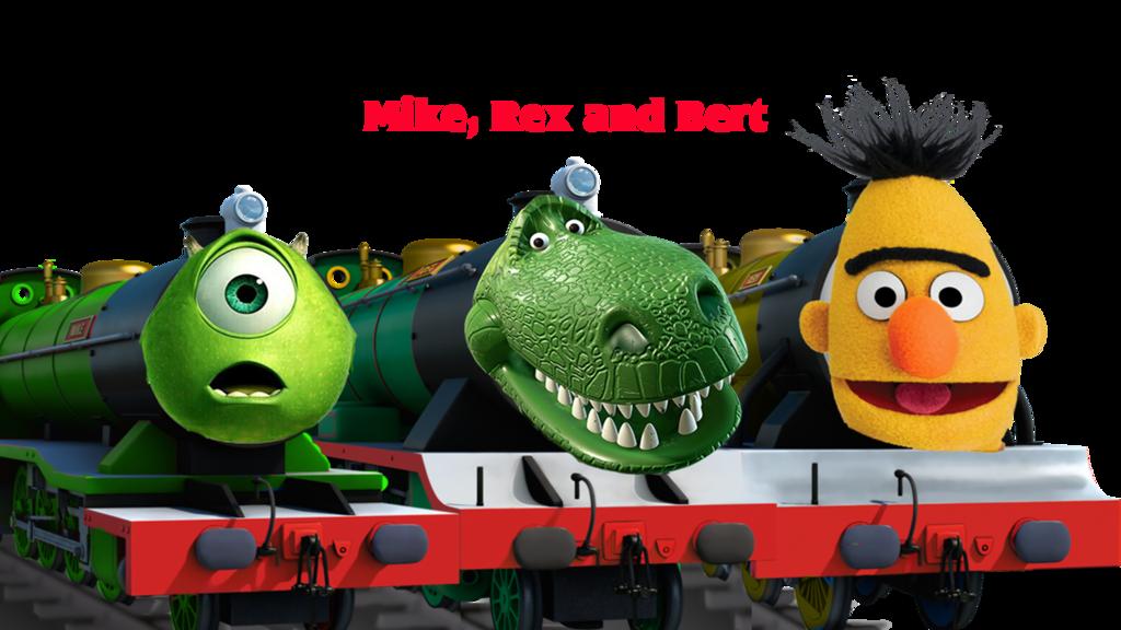 Mike rex and bert. Engine clipart dank