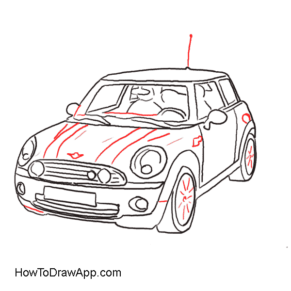 How to a mini. Engine clipart draw car