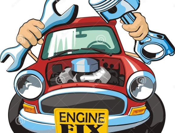Engine clipart engine repair. Mechanics service available in