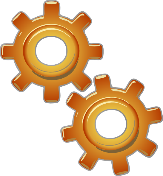 Gear clipart engineering symbol. Gears motion motor engine