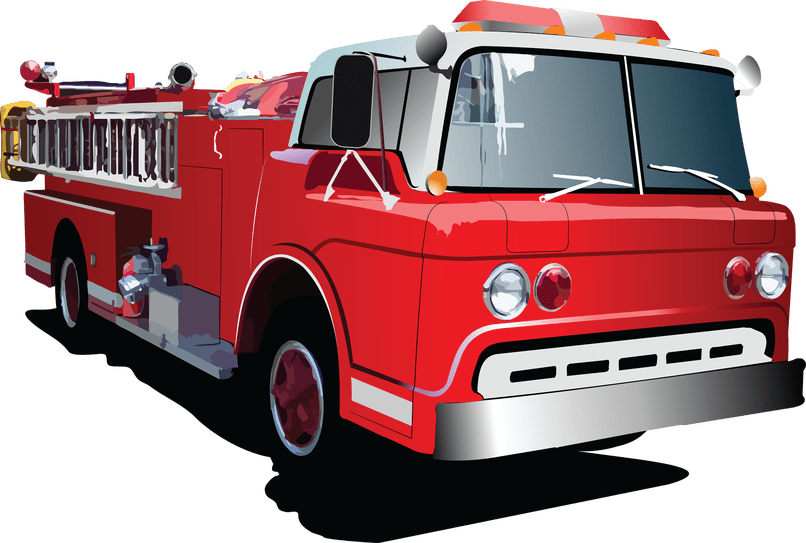 Fire truck cartoon pictures. Firetruck clipart animated