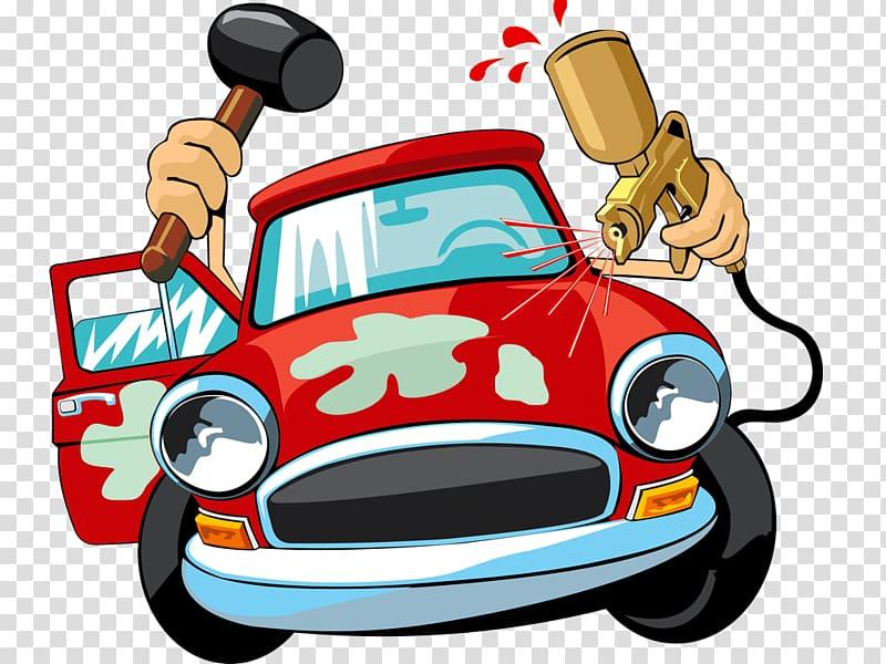 Car automobile repair shop. Mechanic clipart auto tech