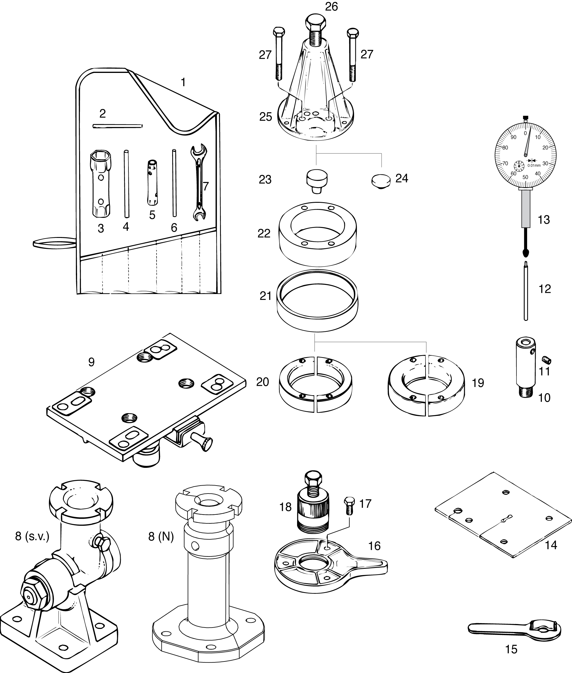 Tools drawing at getdrawings. Mechanic clipart black and white