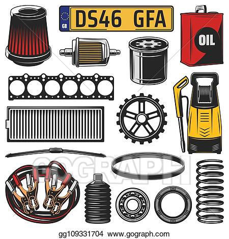 Engine clipart motor part. Vector stock car spare