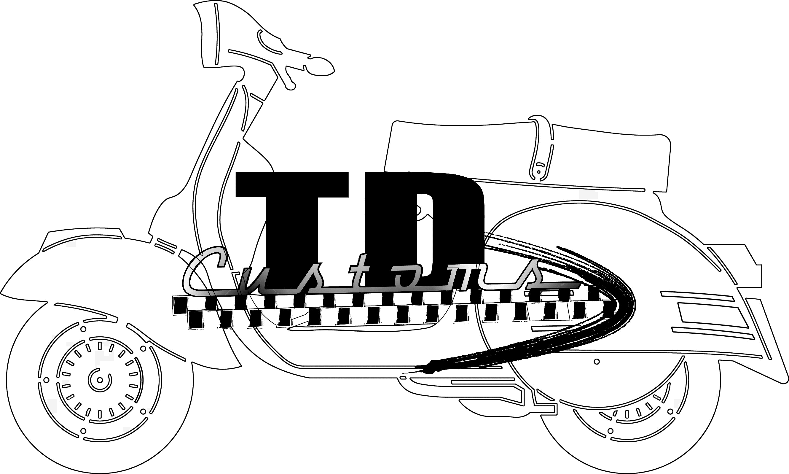 Td customs everything about. Scooter clipart scooter lambretta