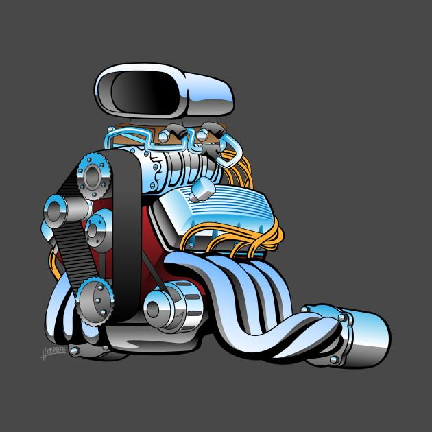 Engine clipart race engine. Hot rod car cartoon