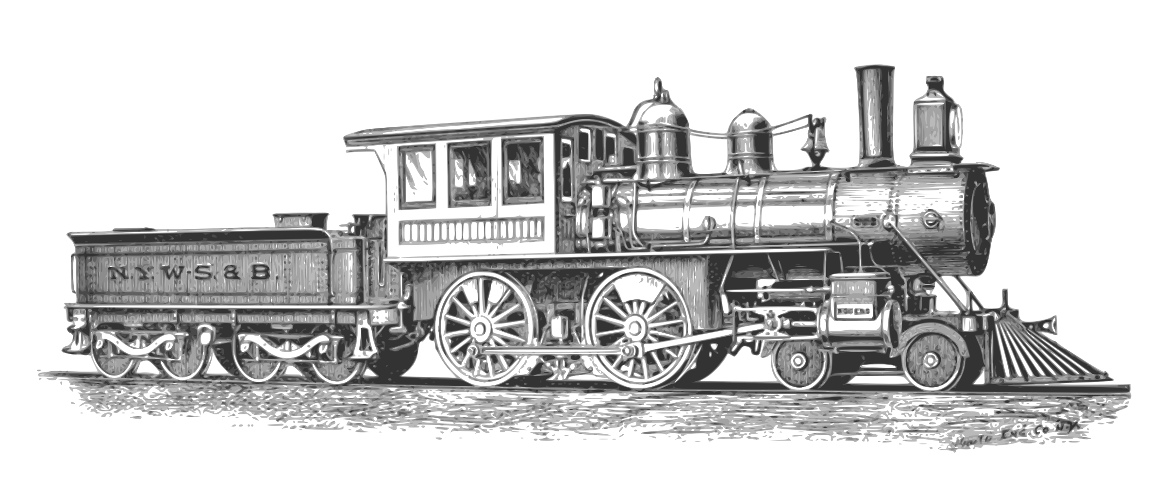 Engine clipart railway engine. Steam locomotive big image