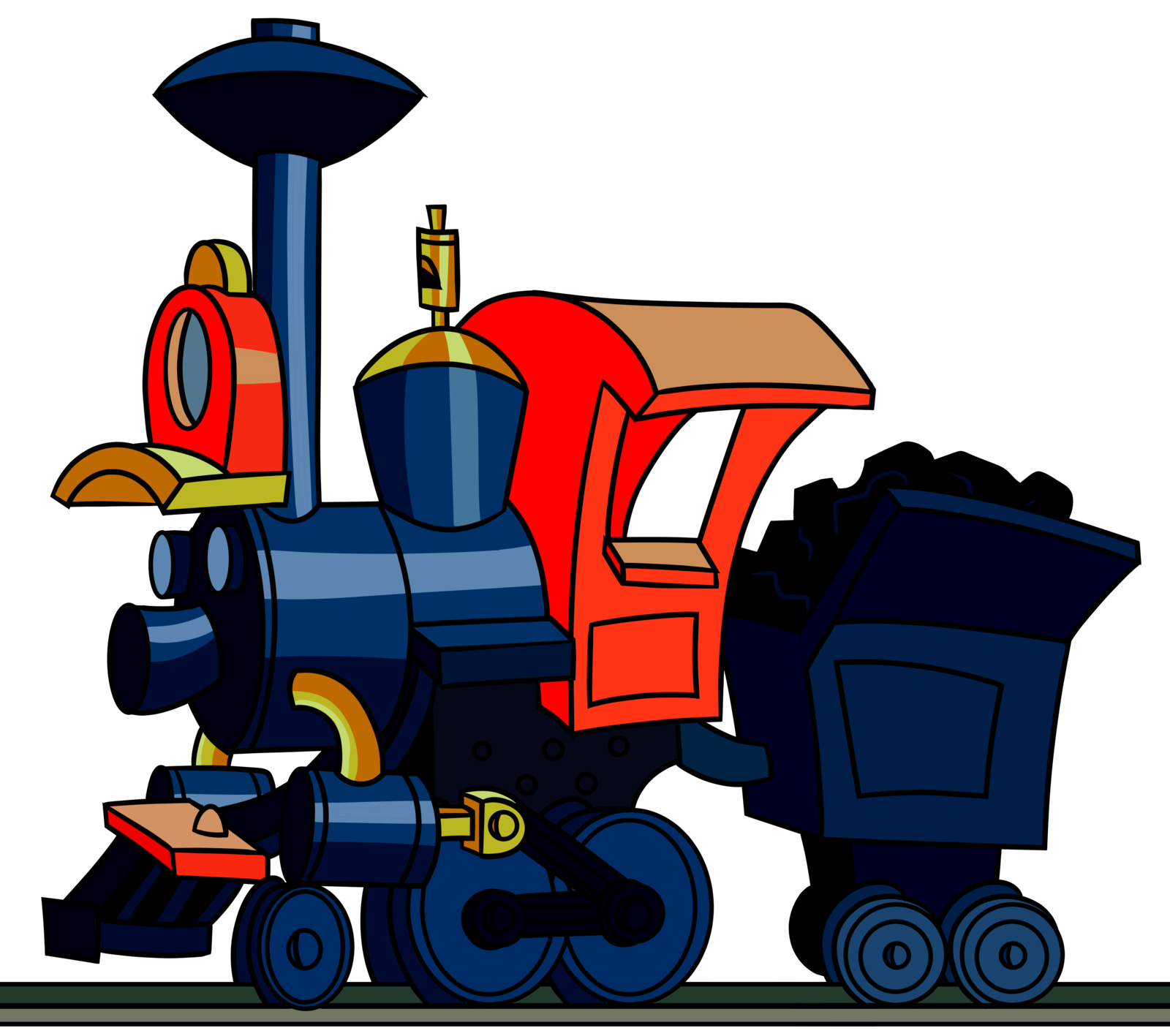 Engine clipart red train. Casey junior by cosmictangent