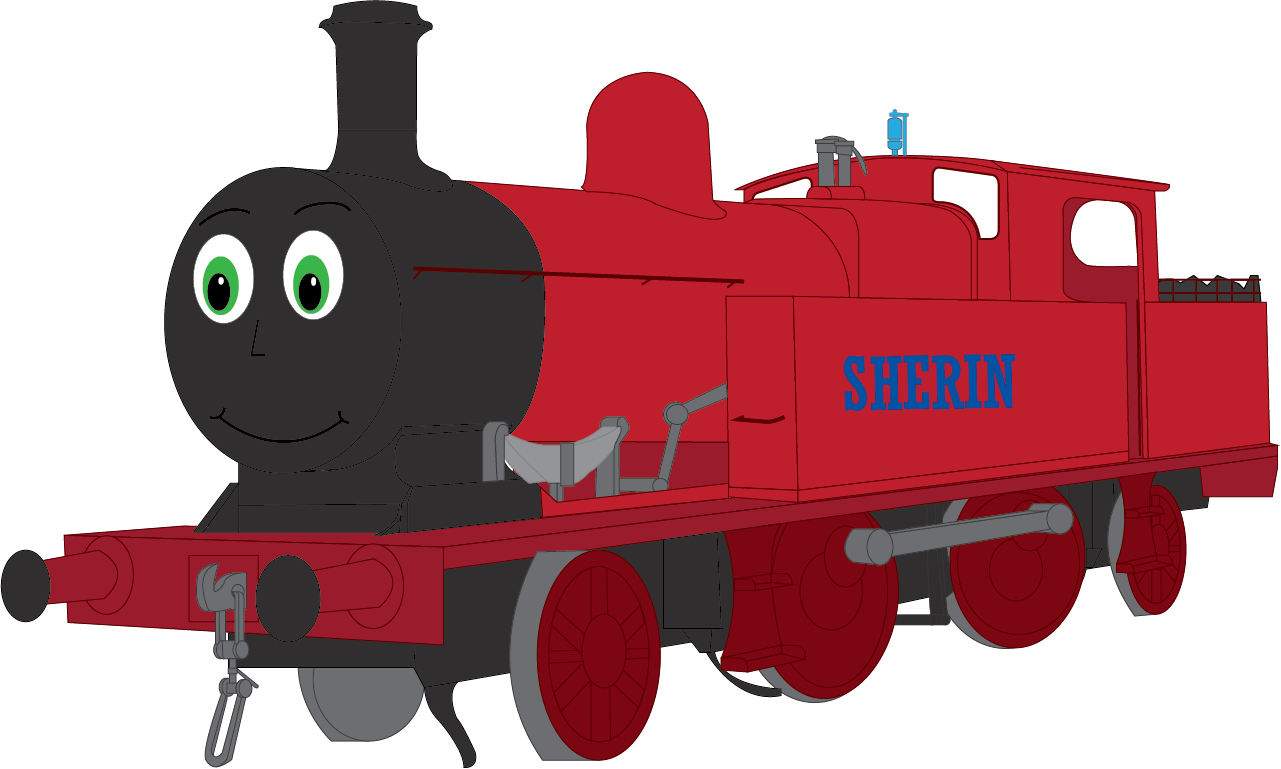 Sherin pooh s adventures. Engine clipart red train
