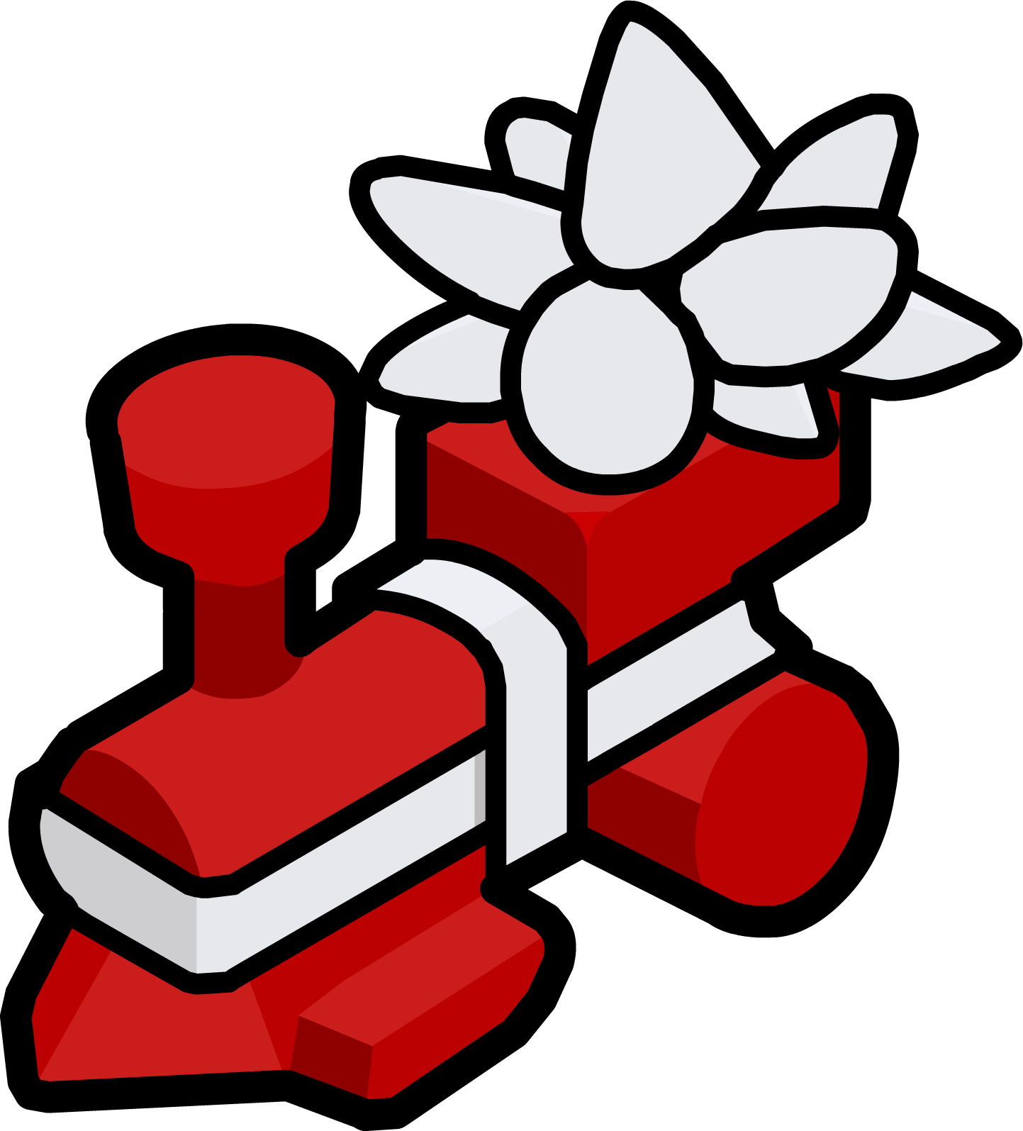 Present club penguin wiki. Engine clipart red train