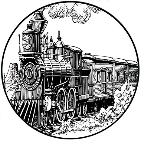 Amazon com plush round. Engine clipart short train
