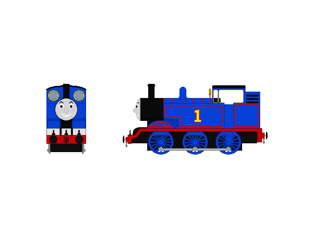 Thomas front by steamdiesel. Engine clipart side view