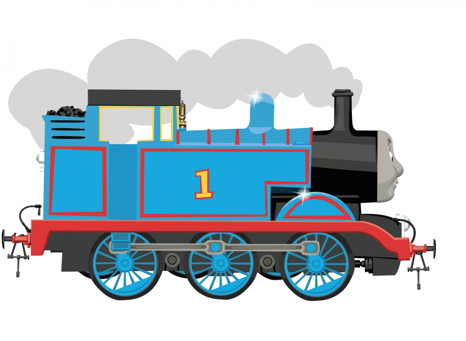 Thomas the tank dan. Engine clipart side view
