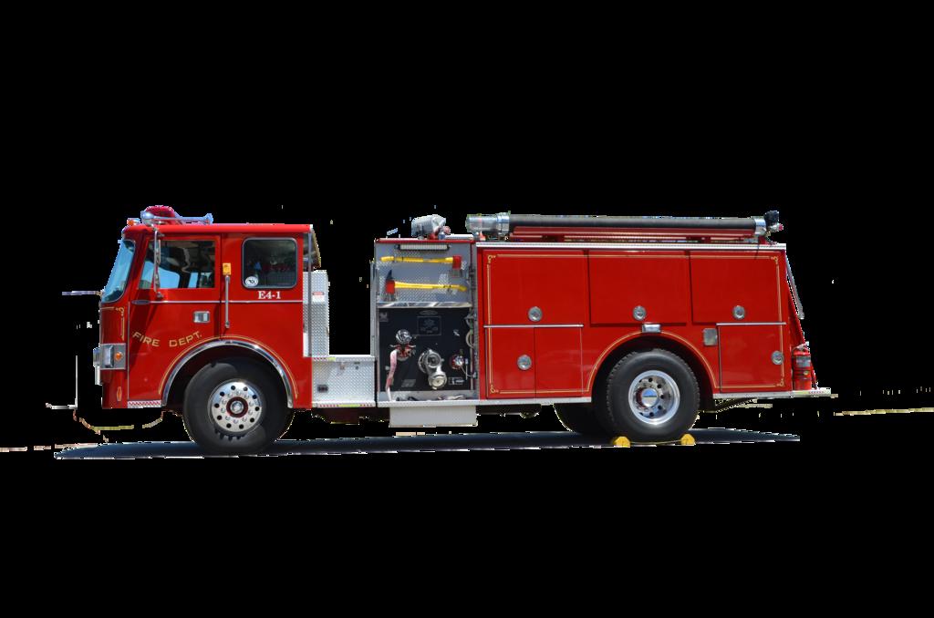Firetruck clipart fire marshal. Truck side view