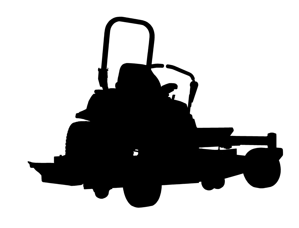 Zero turn mower lawn. Engine clipart silhouette