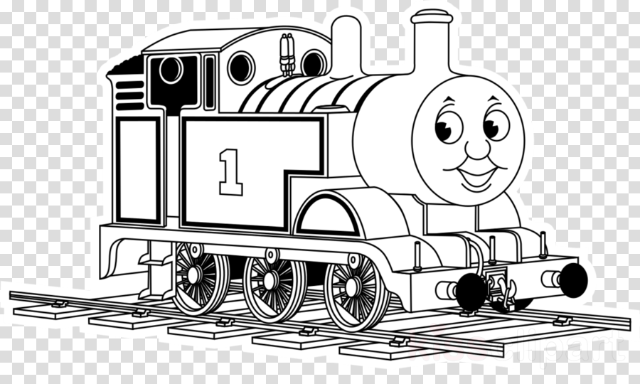 Download the coloring . Engine clipart thomas tank engine