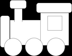 Black and white train. Engine clipart trainblack