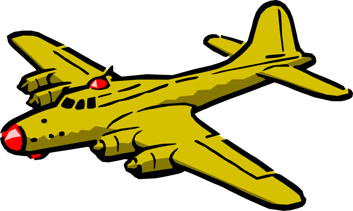 Engine clipart tran. B flying fortress vector