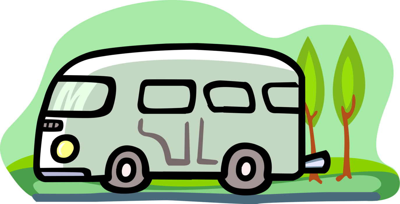 Minivan clipart green car. Motorhome rv recreational vehicle