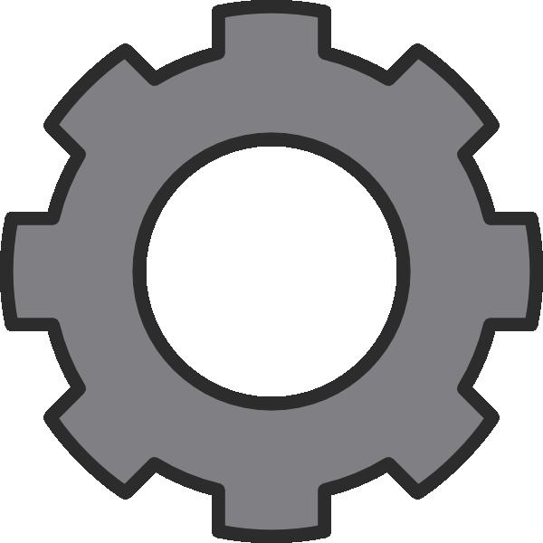 Engine clipart vector. Gear grey cog clip