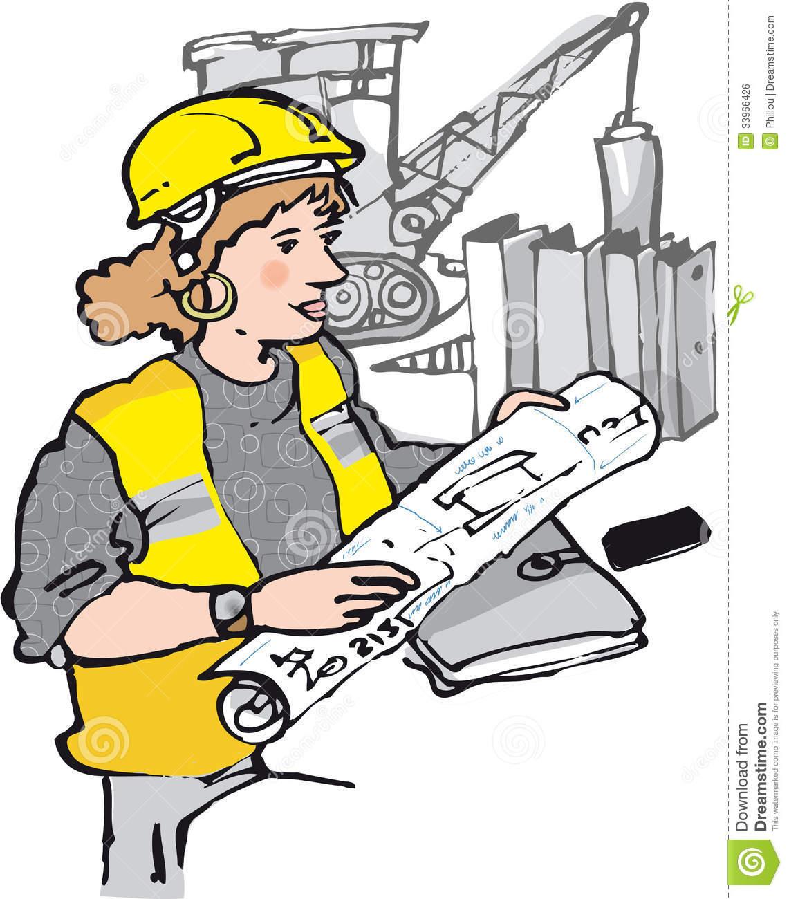 Architect clipart lady. Female engineer panda free