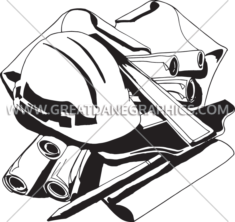 Engineering table production ready. Engineer clipart black and white