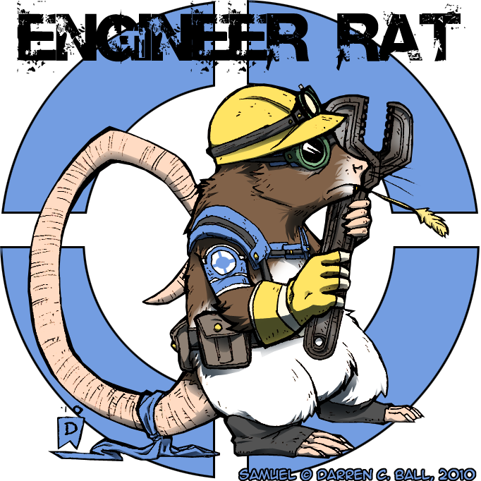 Rat by d on. Engineer clipart chief engineer