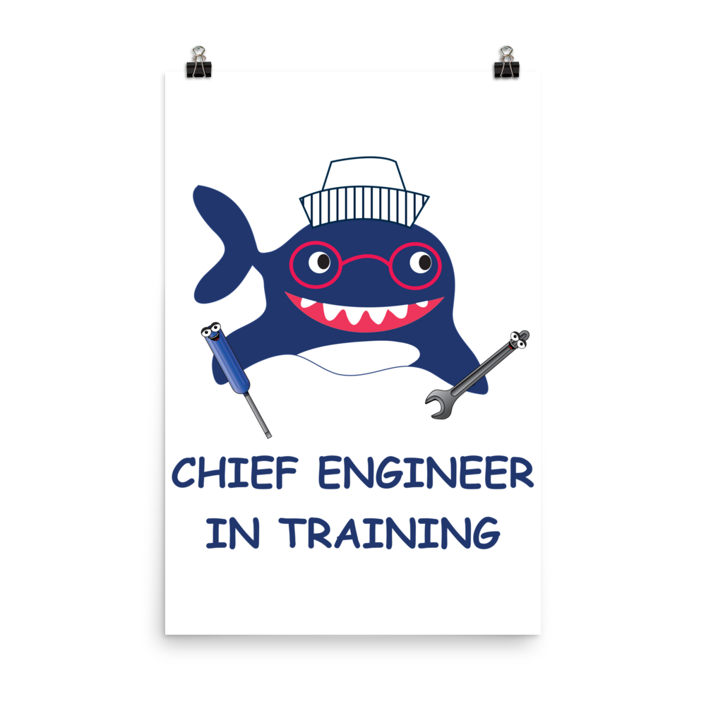 Kids in training poster. Engineer clipart chief engineer