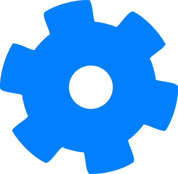 Blue cog hi png. Gear clipart development