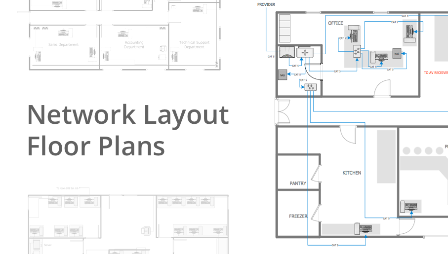 Furniture clipart floor plan. Network layout plans how