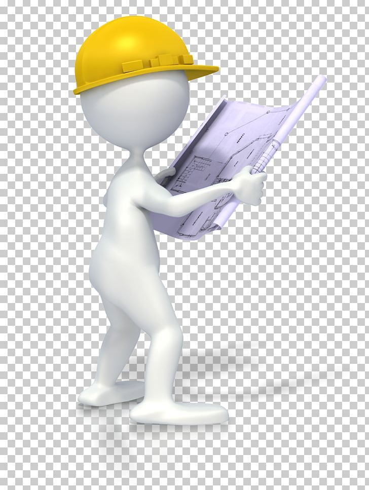 Architectural engineering stick figure. Engineer clipart constructing a building