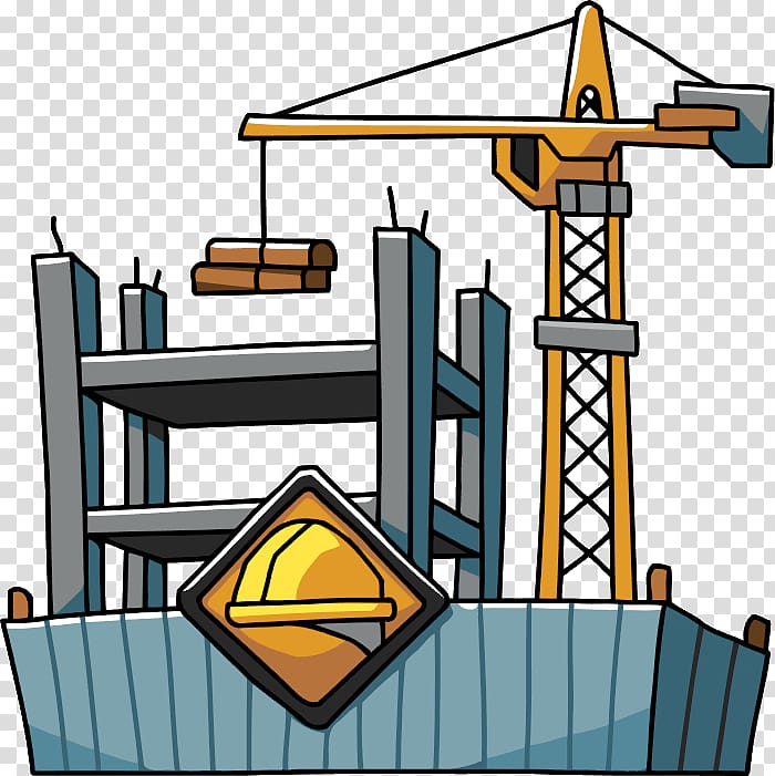 Engineer clipart constructing a building. Architectural engineering construction site