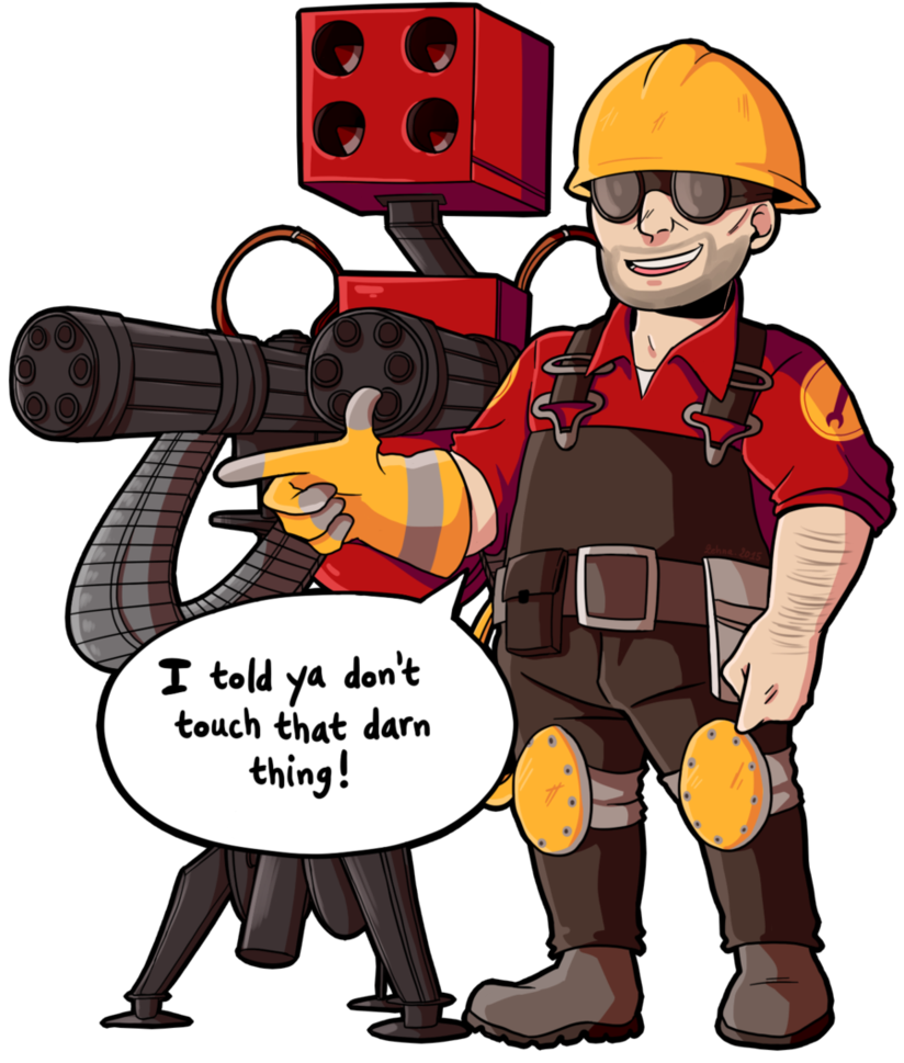 Engineer clipart engineer job. Stickers the with sentry