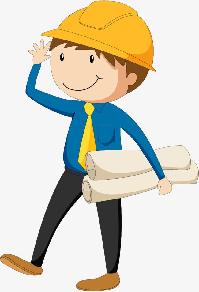 Engineer clipart engineering background. Holding the drawings of