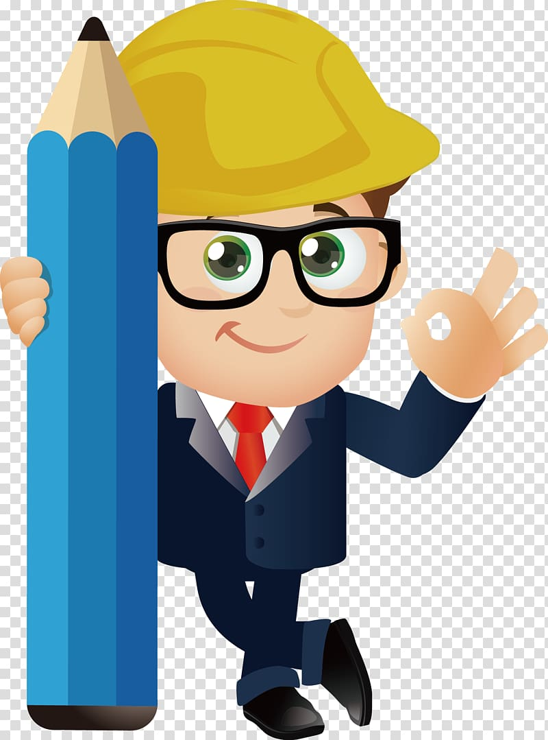 Illustration cartoon . Engineer clipart engineering background
