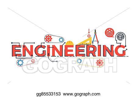 Engineering clipart stem. Vector illustration word eps